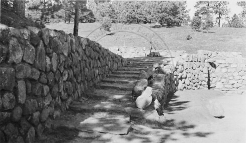 Photo - CCC stonework leading up to Morse Well (1933-1935).