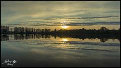 Etang des Grèves (touflou) Tags: étang étangdesgrèves belleville bellevillesurloire cher coucherdesoleil crépuscule réflection reflets