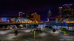 Atlanta, GA: Philips Arena and partial downtown skyline (nabobswims) Tags: atlanta ga georgia hdr highdynamicrange lightroom nabob nabobswims night photomatix sel18105g skyline sonya6000 us unitedstates philipsarena nightfotop1a1