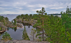 Spirit of the north... View of the lake from the island (from the mountain) (L.Lahtinen (nature photography)) Tags: autumn lake mountains rocks nature naturephotography beauty island honkasalo islands archipelago nikond3200 7dwf north karjala karelia september clouds laatokka luonto saari saaristo laatokansaaristo travel trip tourism kalliot northernnature cliffs järvimaisema järvi larissadatsha russia
