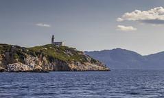 Repio Island Lighthouse (kubaszymik) Tags: lighthouse greece skiathos skopelos island aegean sporades canon 24105l sunset blue boat sail sailing