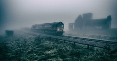 Misty Mountain Hop (Blaydon52C) Tags: mist rain fog cliffs skinningrove shed atmosphere class66 dbschenker dbcargo railway rail railways railfreight trains train transport locomotive locomotives loco 66087 tees cleveland northyorkshire