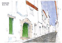 Estremoz (gerard michel) Tags: portugal alentejo esremoz rue sketch croquis architecture aquarelle watercolour