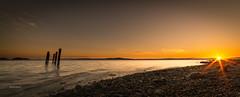 Chemainus Sunburst (pklopper) Tags: sunburst colourful sunrise water pilings nikon d800 14mmf28 vancouverisland fantasticnature
