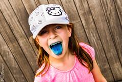 Grace blue tongue! (philbarnes4) Tags: portrait dslr philbarnes child face