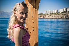Ebru (Melissa Maples) Tags: antalya turkey türkiye asia 土耳其 nikon d3300 ニコン 尼康 nikkor afs 18200mm f3556g 18200mmf3556g vr boattrip party pamka pembeathenalar supportgroup cancer breastcancer memekanseripsikososyaldestekgrubu boat mediterranean sea water ebru bride blonde woman mountains cliffs