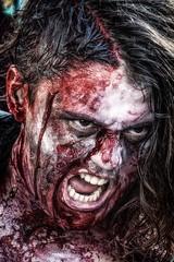 The Shining (-esque) (Andy J Newman) Tags: blood bristol colorefex d500 girl horror nikon walk zombie zombiewalk england unitedkingdom gb