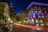 Gastown at blue hour 2 (maestro17ca) Tags: harbourcenter gastown downtown vancouver greatervancouver steamclock souvenirs tourists architecture victorian waterstreet cobblestones citylights nightphotography longexposure lowermainland landscapephotography streetphotography tokina1116mm28 sonya6000 lighttrails