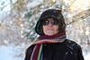Sunny Ways (Kurayba) Tags: edmonton alberta canada pentax k1 dfa 2470 f28 wr hdpentaxdfa2470mmf28edsdmwr whitemud park ravine creek snow winter falling bokeh portrait woman scarf cold sunny sun