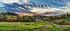 IMG_0890-92Ptzl1scTBbLGER (ultravivid imaging) Tags: ultravividimaging ultra vivid imaging ultravivid colorful canon canon5dmk2 clouds sunsetclouds scenic rural vista pennsylvania pa panoramic painterly fields farm countryscene autumn autumncolors evening trees twilight road rainyday