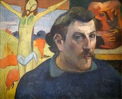 Portrait de l'artiste au Christ jaune de P. Gauguin (Grand Palais, Paris) (dalbera) Tags: dalbera paulgauguin grandpalais paris france autoportrait peinture christ