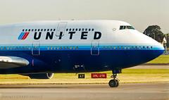 Goodbye UA 747 (LeoMuse747) Tags: united airlines boeing 747400 747422 n120ua ship8420 london heathrow airport lhr egll uk kingdom england great britain leomuse747 nikon d40 nikkor 70300mm vr camera lens dslr jumbo jet