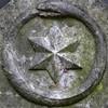 Ouroboros Uroborus (Leo Reynolds) Tags: xleol30x squaredcircle panasonic lumix fz1000 cemetery cemeterysymbol star ouroboros uroborus snake serpent sqset141 xx2017xx