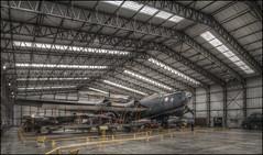 The Hangar (Darwinsgift) Tags: yorkshire air aircraft museum hangar interior nikkor 19mm f4 pc e nikon d850 hdr lancaster bomber royal force