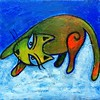 Snow (Christine Brallier) Tags: cat kitty art paint painting acrylics snow
