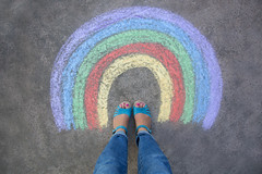 rainbow dreams (catklein) Tags: love rainbow chalk