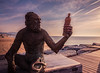 "Anís del mono / ""the monkey's anisette"" (Lluvia Fotografia) Tags: verde mono anís playa amanecer sunset beach flickr canon 1585 badalona monkey larga long exposición exposure"