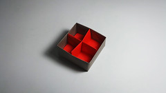 Masu Box Divider by Paolo Bascetta (Origami.me) Tags: origami papercraft papercrafts paper craft crafts diy traditional fold folding masu box divider paolo bascetta