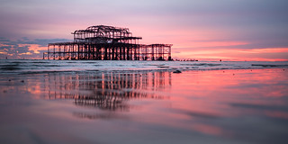 Sunset at the West Pier