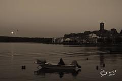 Innamorato di...Marta! (Biagio ( Ricordi )) Tags: marta viterbo lagodibolsena luna lago lake love amore barca italy seppia