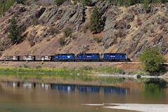 MRL Work Train, Perma, MT (chief_huddleston) Tags: montana rail link mrl sd402xr sd402 emd train locomotive railroad mt flathead perma dixon 10th 255 259 257