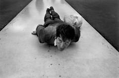 Negative Space (mariahschyma) Tags: allongé catholic catholique extérieur exterior fatima fidèle homme25à45ans humain humanbeing lying lyingdown man25to45years manallages masculin pavement pèlerinage pilgrimage portugal prostrate trottoir worshiper