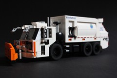 "Mack TerraPro ""DSNY"" (sponki25) Tags: mack terrapro dsny department sanitation new york city lego legonyc snowplow winter garbage truck waste management"