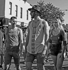 The Leader (tacosnachosburritos) Tags: halsted street market days photography thestreets chicago windy city urban gritty people humanity gay lgbqt boystown neighborhood festival pride man guy boy girl woman chick lady summer hot beautiful lovely gorgeous revelers party fun topless