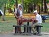 Playing Backgammon  in Copou Park (Normann) Tags: romania iasi backgammon