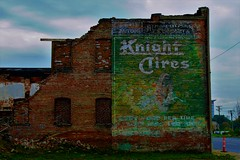 Knight Tires-A Ghost Sign (SCOTTS WORLD) Tags: adventure abandoned architecture america art artwork sky sign clouds color crusty detroit digital decay downtown dilapidated detail windows weathered white weeds green grass ghostsign brick building bluesky brown blight knighttires logo 313 exploring empty stormy ruin rainy fun fall october 2017 company business panasonic pov perspective urban usa unitedstates urbex urbanexploring urbandecay urbanart michigan motown midwest motorcity manufacturing tires city