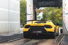 Squadra Corse (Mattia Manzini Photography) Tags: lamborghini huracan performante supercar supercars car cars carspotting nikon v10 yellow italy italia santagata automotive automobili auto spoiler limited