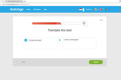 Duolingo: Ik heb een krant... but how do they know? (View large) (Canadian Pacific) Tags: duolingolearningdutch1 language foreign duolingo learning learn second