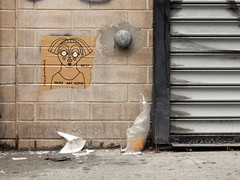 More art please (aestheticsofcrisis) Tags: street art urban intervention streetart urbanart guerillaart graffiti postgraffiti new york ny nyc manhattan soho lowereastside saraehrenhard wheatpaste pasteup