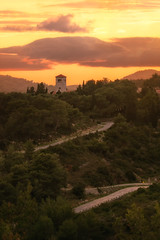 Sony A7R II + Sony FE 70-200 f/4 G OSS (viktor_viktor) Tags: vis sunset oldtower hill greenhill road serpentines orange wwwverybiglobocom viktorpavlovic sonya7rii sonyfe70200mmf4goss