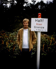 On the border in Harz, West Germany, 1977... (iEagle2) Tags: analog analogfilm analogue autumn colorslide germany harz grenze border minolta minoltaxm