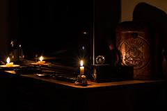 O velho e o novo.... (mauroheinrich) Tags: noite night luzes escuro vela antigo novo velho retrato lume luzeiro nofilter nikon mauroheinrich