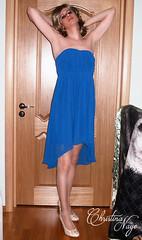 Christina Naye's Blue cocktail dress (Christina Naye) Tags: christinanaye tgirl trap trans femboi femboy crossdressing crossdresser panties tease tgurl gurl