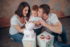 Family (truewonder) Tags: family mommy kid love unicorn play game white guitar candles grat shoot wall bricks young parents brunette beauty ekaterinburg ekb russia ural indoor photoshoot lightroom canon7d