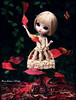 Dance for me (pure_embers) Tags: pure embers pullip doll dolls dahlia pureembers girl uk dark gothic model immortal eternal life black eyes mannequin embersdahlia red leaves dance