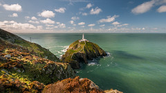 Ocean green....Southstack. (Einir Wyn Leigh) Tags: landscape shore coast lighthouse autumn colorful walking wales sunlight light ocean sea beach nature natural outdoors love sky clouds scenic bay walk cliff lines path flowers flora aqua green blue september
