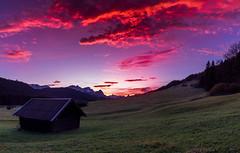 pink sunset (explored) (louhma) Tags: sunset pink clouds geroldsee bavaria germany nikon d750 contrast sunlight evening europa explore explored