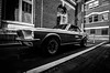 Muscle #3: '67 Mustang (The Classic) (Rabican7) Tags: newengland portsmouth photography muscle car ford mustang 1967 bricks downtown nikon lines wheels muscular monochrome pattern blackandwhite classic antique contrast newhampshire americanmuscle musclecar tokina alley