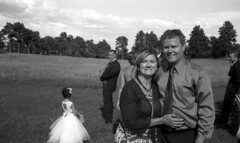 me & CJ at pats (bergytone) Tags: film bw kodak bantam 828 folding antique kentmere 100 xtol couple wedding