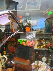 Shop window stuff (Explored) (JulieK (thanks for 5 million views)) Tags: 117picturesin2017 window hww junk funny wexford ireland irish sign silly fun falseteeth