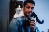 me and lou (ewitsoe) Tags: cat kitten big nikon feline self selfportrait selfie ewitsoe home light d80 35mm house bathroom cats bigcat pet boycat male