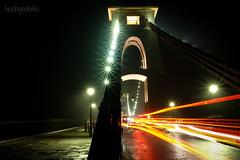 After the Rain... (hoobgoobliin) Tags: clifton suspension bridge bristol uk robcharles hoobgoobliin fujifilmxe2 fujifilmxf1855mm light trail night stars isambard kingdom brunel