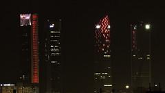 Cuatro Torres Business Area Madrid de noche (potipoti55) Tags: madrid españa spain architecture skyscraper skyline ctba