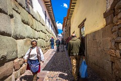 Narrow streets of Cusco.