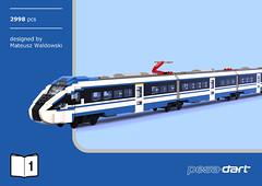 Pesa Dart ED161 (14) (Mateusz92) Tags: lego moc pesa dart train pkp intercity afol zbudujmy to