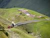 Train descending the mountain (James E. Petts) Tags: brienzrothornbahn rothorn switzerland brb mountain railway
